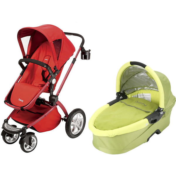 Maxi Cosi Foray LX Stroller Wtih Dreami Bassinet - Intense Red/Sulphur
