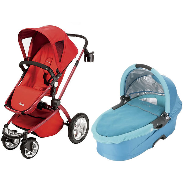 Maxi Cosi Foray LX Stroller Wtih Dreami Bassinet - Intense Red/Capri