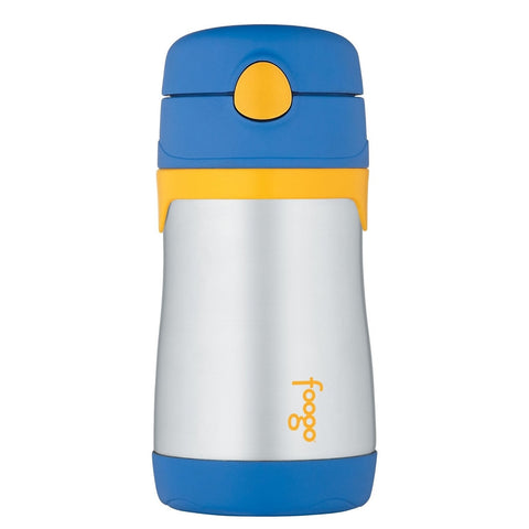 Thermos FOOGO Vacuum Insulated Stainless Steel Straw Bottle - Blue/Yellow