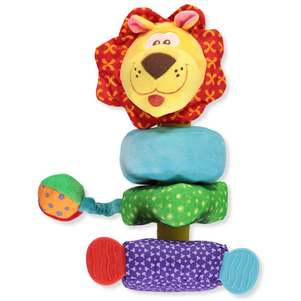 Nuby Build a Buddy Plush Stacking Toy, Lion
