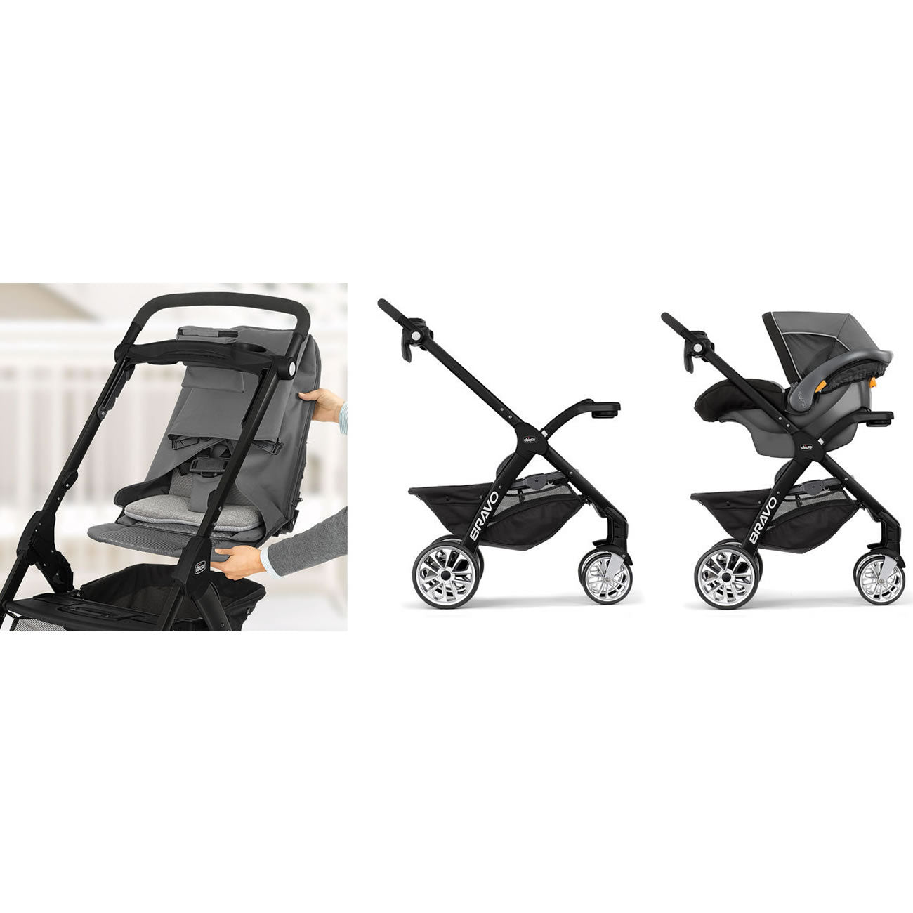 Chicco Bravo LE Stroller, Coal - NY Baby Store