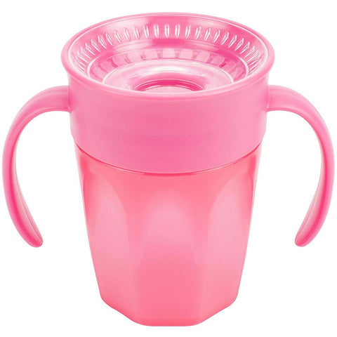 Dr. Brown's Cheers 360 Spoutless Training Cup, 7 Oz, Pink