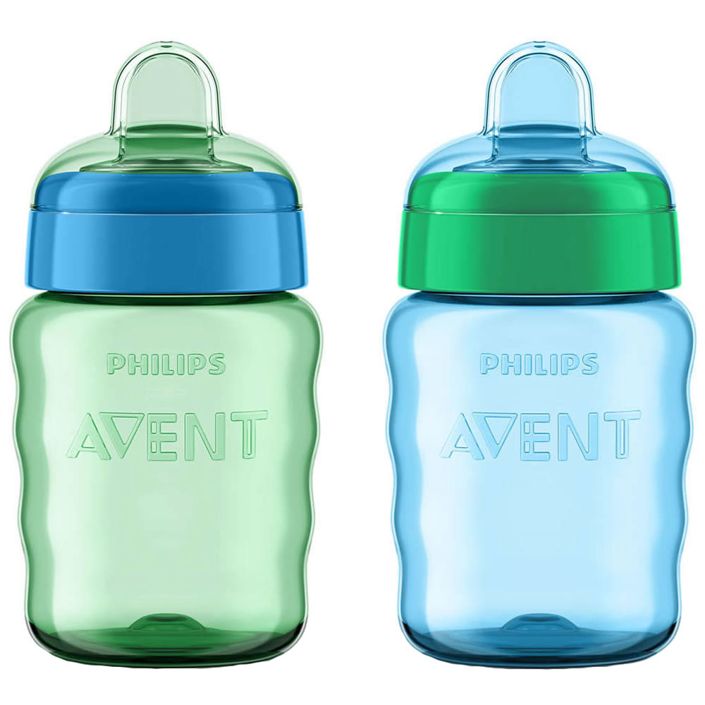 Philips AVENT My Easy Sippy Cup 9oz, Blue/Green, Stage 2