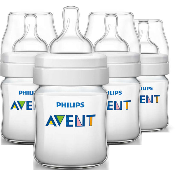Philips Avent Anti-colic Baby Bottles Clear, 9oz (4 Pack)
