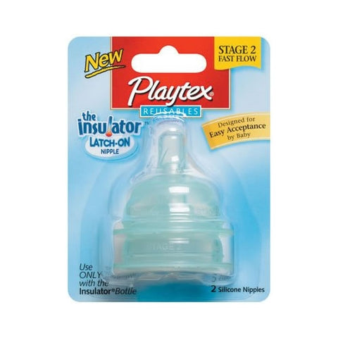 Playtex Insulated Bottle Stage 2 Nipples - 2pk