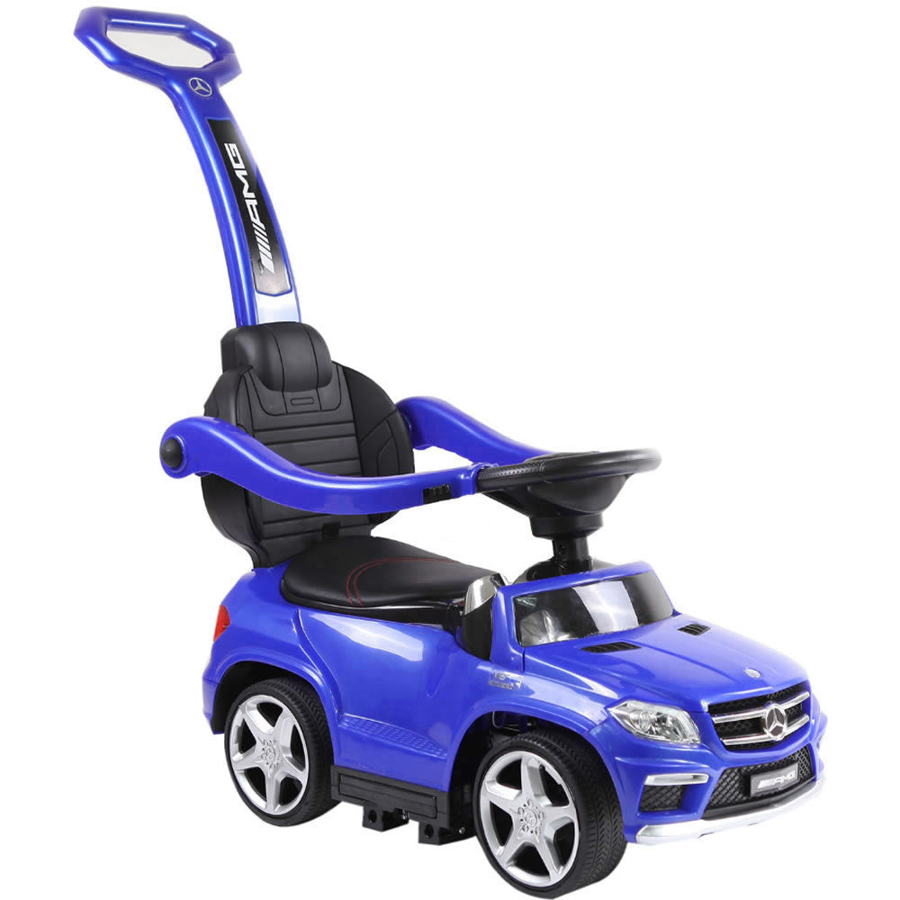 Licensed Mercedes Benz GL63 Kids Convertible Ride On Push Car - Blue