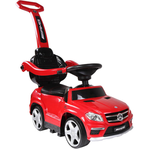 Licensed Mercedes Benz GL63 Kids Convertible Ride On Push Car - Red