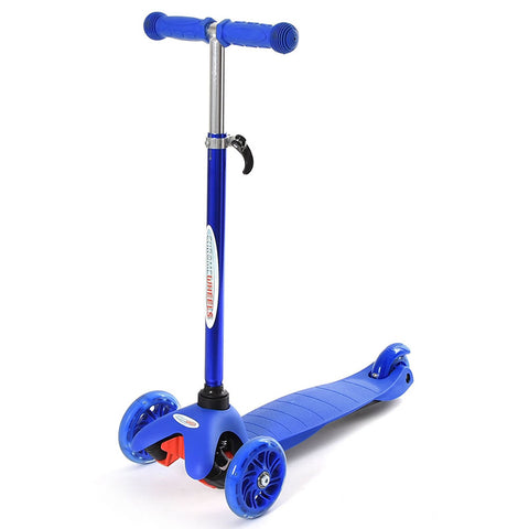 Chrome Wheels Mini Plus Glidekick Scooter - Blue
