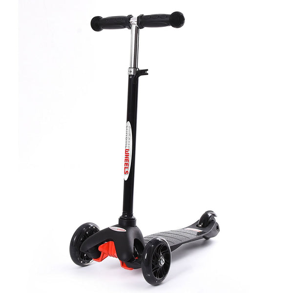 Chrome Wheels Mini Plus Glidekick Scooter - Black