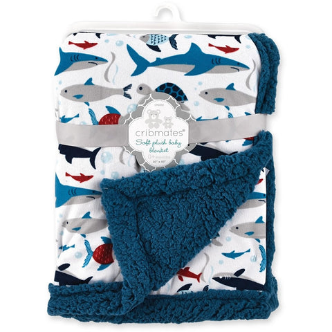 Cribmates Soft Plush Baby Blanket - Under The Sea