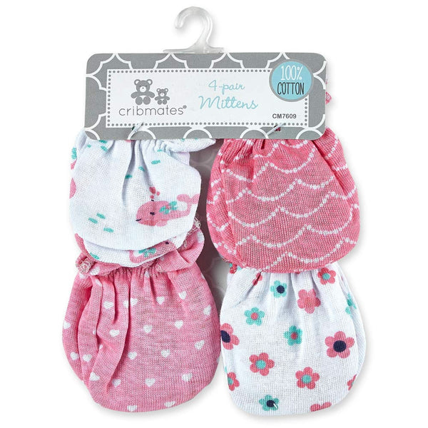 Cribmates 4 Pack Scratch Mittens for Girl