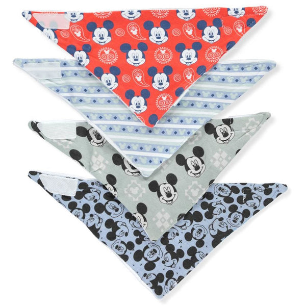 Disney Bandana Bibs 4 Pack, Mickey Mouse