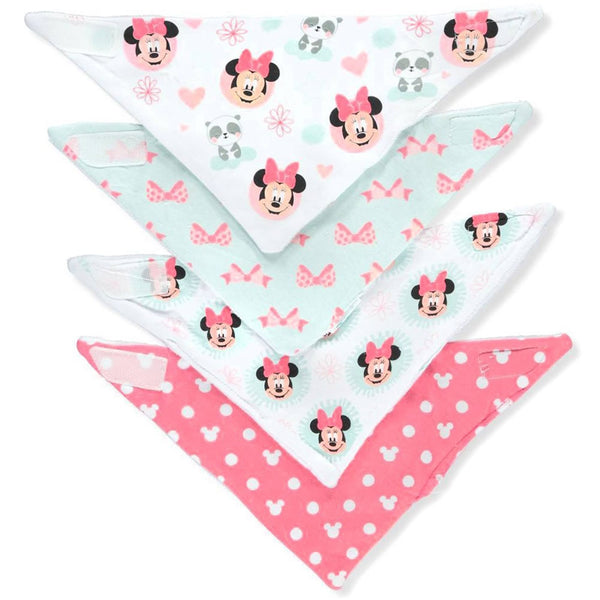 Disney Bandana Bibs 4 Pack, Minnie Mouse