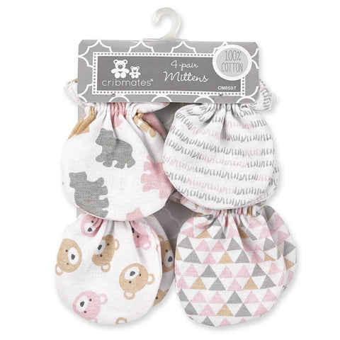 Cribmates 4 Pack Scratch Mittens - Baby Bear