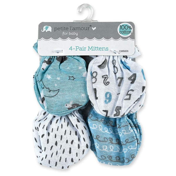 Petite L'amour 4 Pack Scratch Mittens for Boy