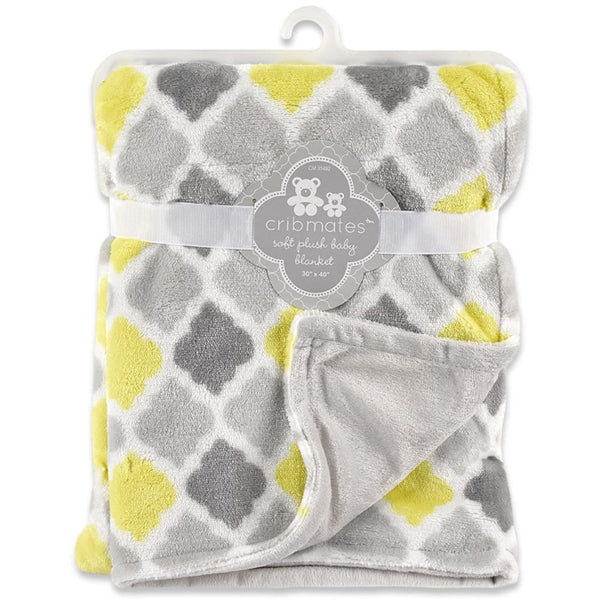 Cribmates Soft Plush Baby Blanket - Diamond