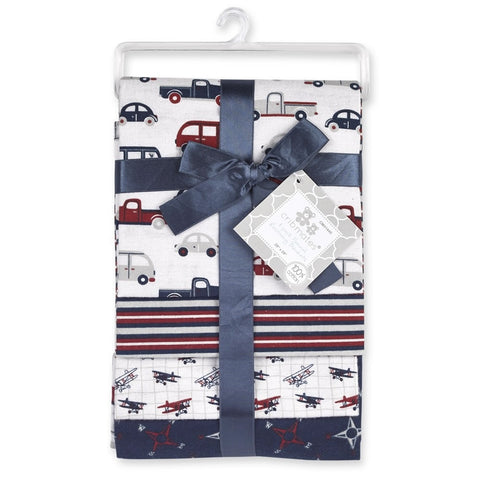 Cribmates 4-Pack Flannel Receiving Blankets - Transport