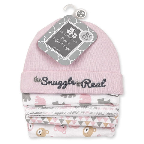 Cribmates Infant Baby Caps - 5 Pack, The Snuggle is Real