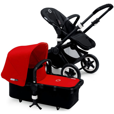 Bugaboo 2015 Buffalo Stroller With Extendable Sun Canopy, Black/Red