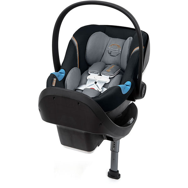 Cybex Aton M Infant Car Seat with SafeLock Base, Pepper Black