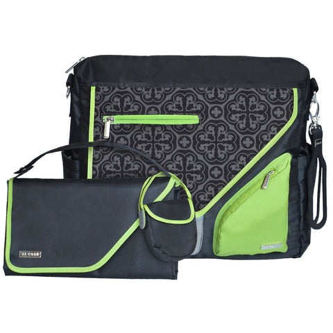 JJ Cole Collections Metra Diaper Bag, Midnight Clover