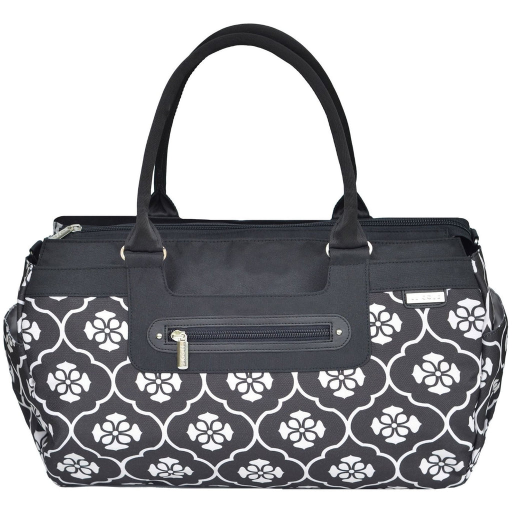 JJ Cole Collections Parker Diaper Bag, Black Floret