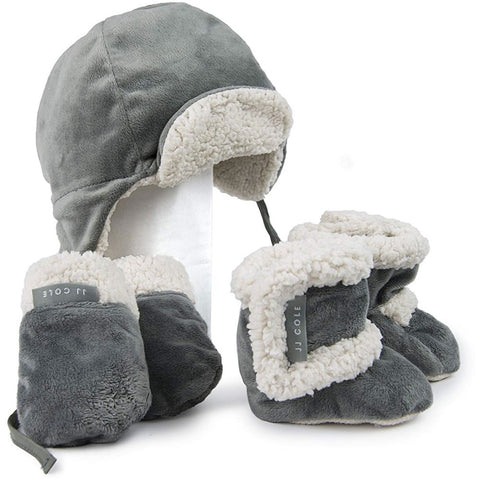 JJ Cole Collections Bomber Hat Set - Graphite