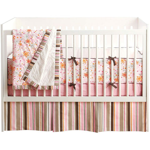 JJ Cole Collections 4 Piece Crib Bedding Set in Pink Craze