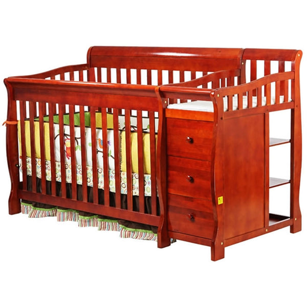 Dream On Me 4 in 1 Brody Convertible Crib with Change, Cherry