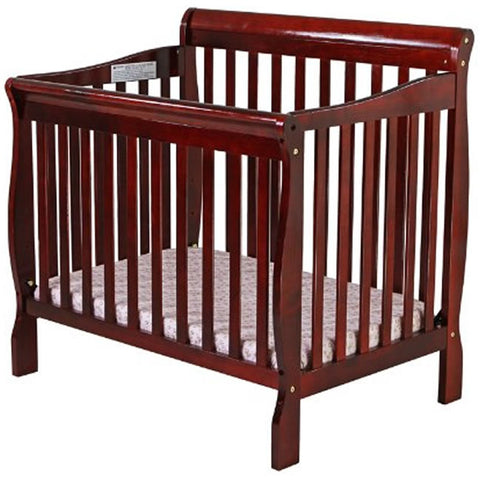 Dream On Me 3 in 1 Aden Convertible Mini Crib, Cherry - 628C