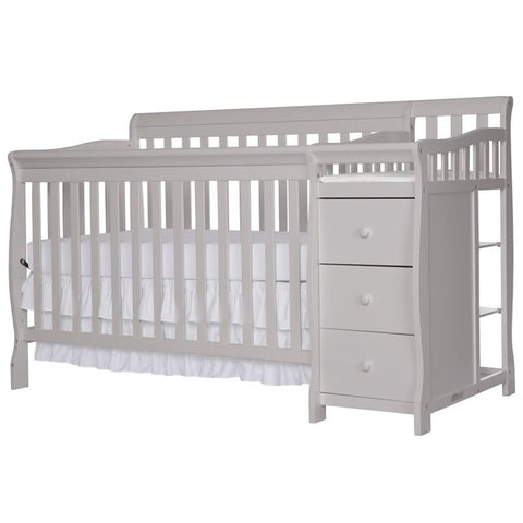 Dream On Me 4 in 1 Brody Convertible Crib with Change, Pebble Gray