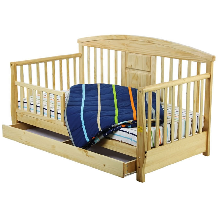 Dream On Me Deluxe Toddler Day Bed, Natural
