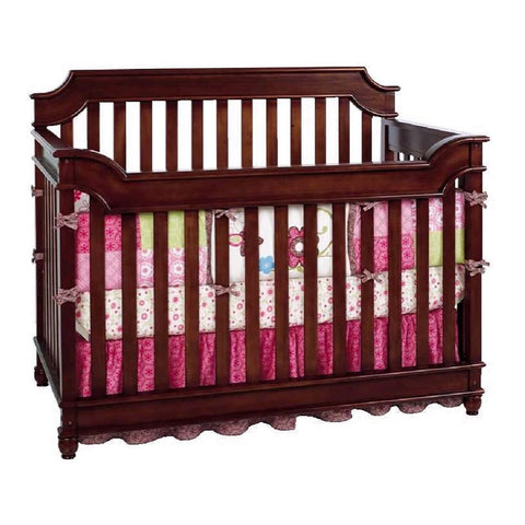 Bonavita Newcastle Convertible Crib - Rustic Cherry