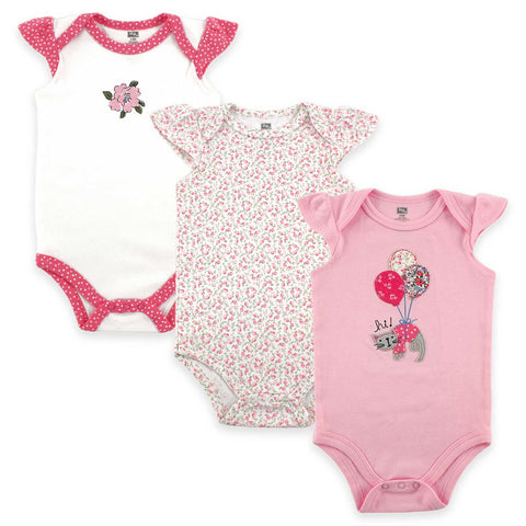 Hudson Baby 3-Pack Cotton Bodysuits - Kitty, XLarge