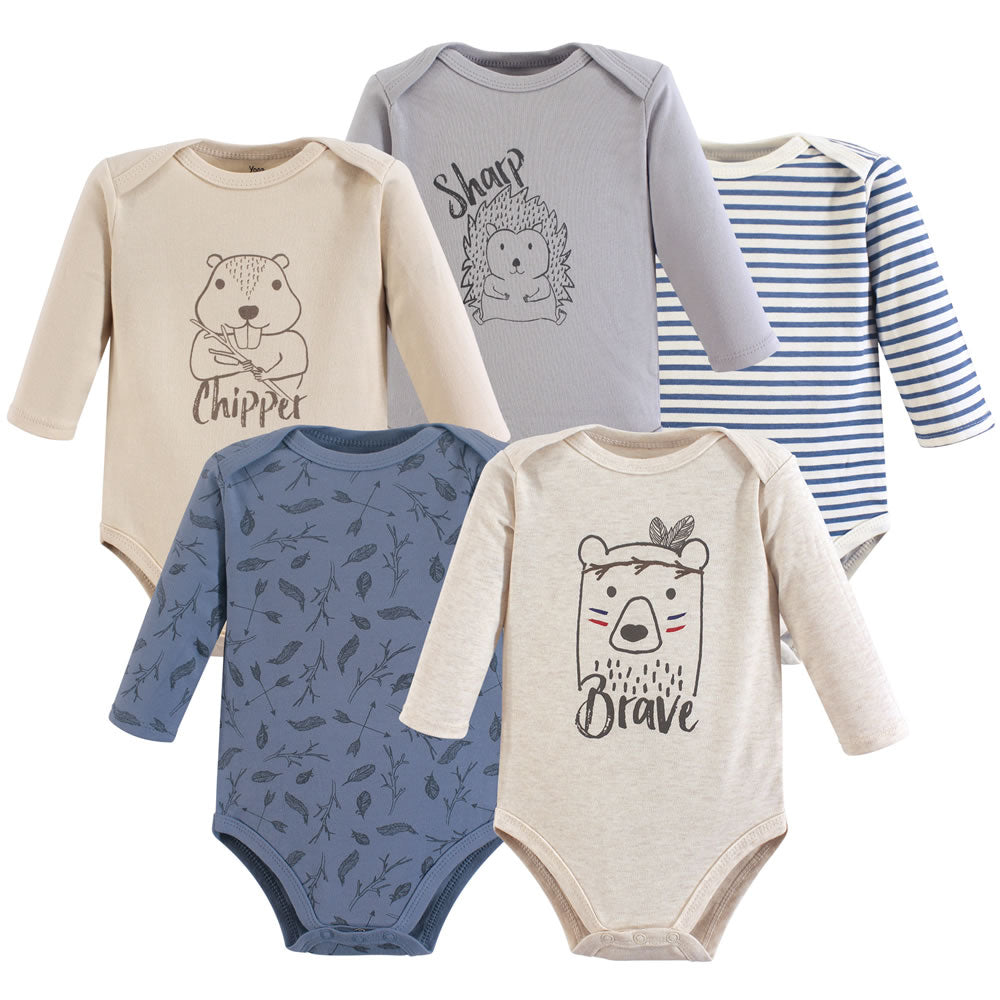 Yoga Sprout 5 Long Sleeve Bodysuits - Wild Woodland, Small