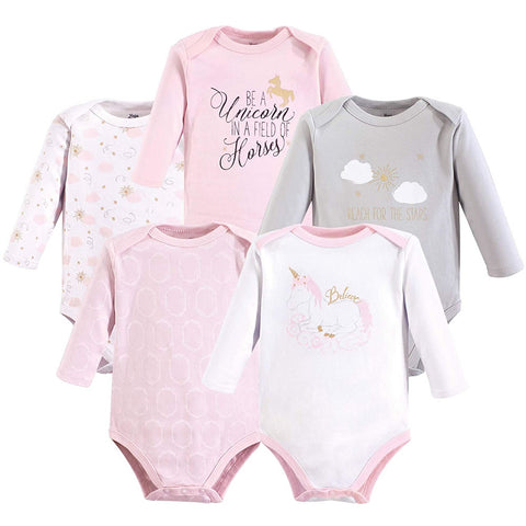 Yoga Sprout 5 Long Sleeve Bodysuits - Unicorn, Small