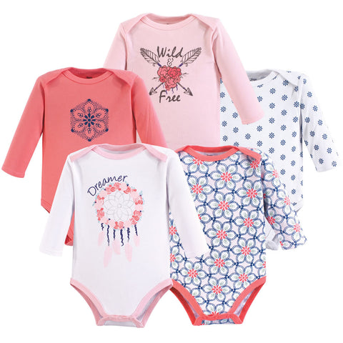 Yoga Sprout 5 Long Sleeve Bodysuits - Dream Catcher, Medium