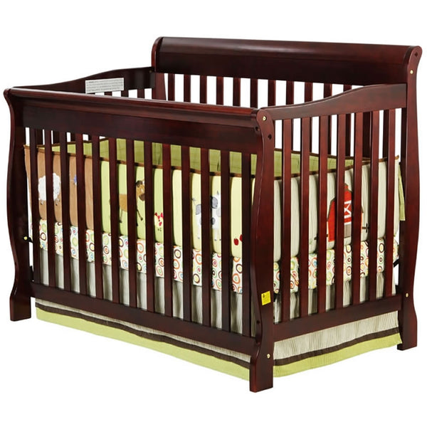 Dream On Me Ashton Convertible 4 in 1 Crib in Cherry - 660C