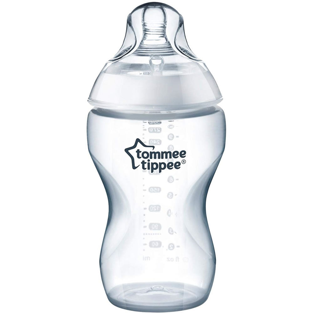 Tommee Tippee 11 Oz Closer to Nature Bottles, Clear