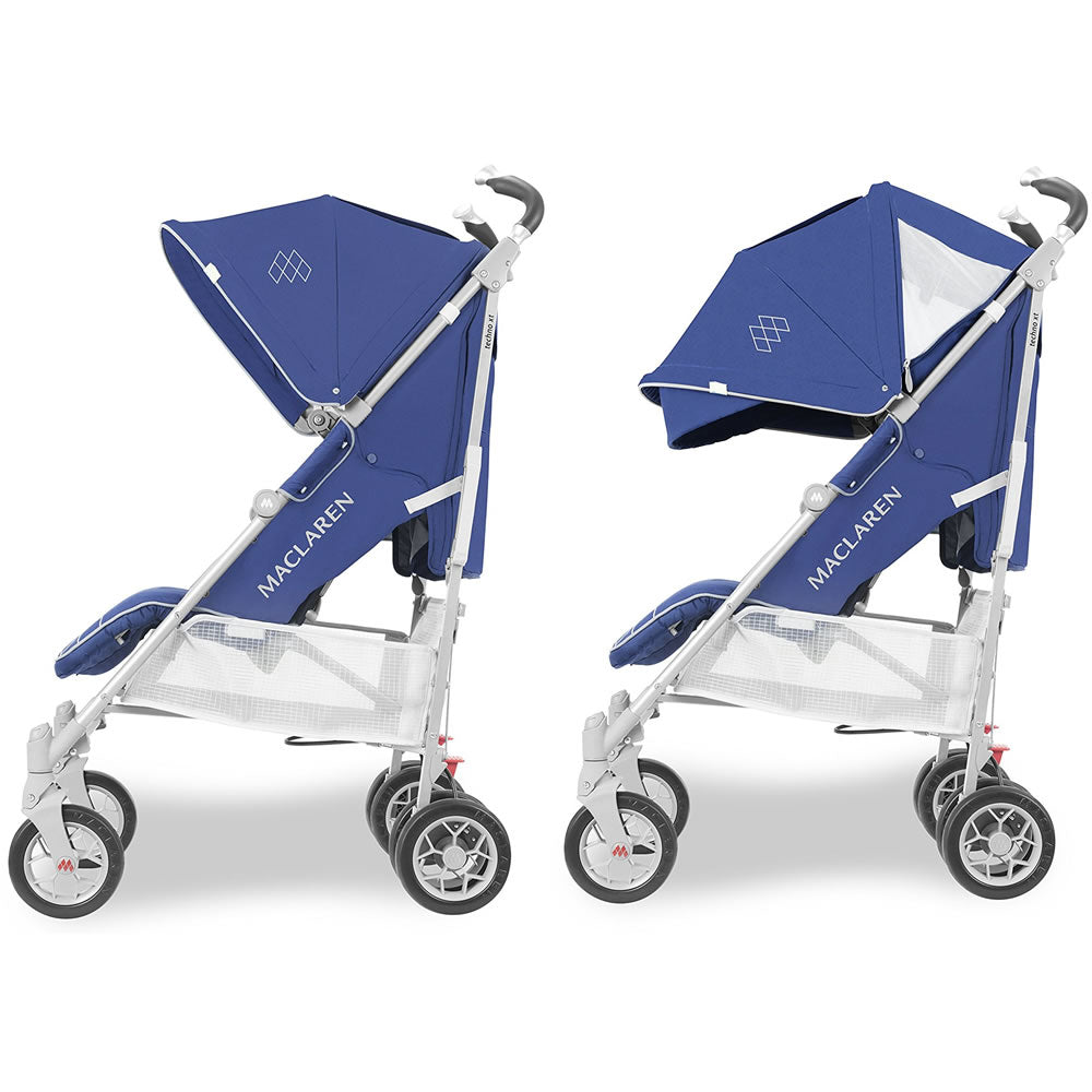Maclaren 2018 Techno Xt Stroller Medieval Blue Silver Ny Baby Store
