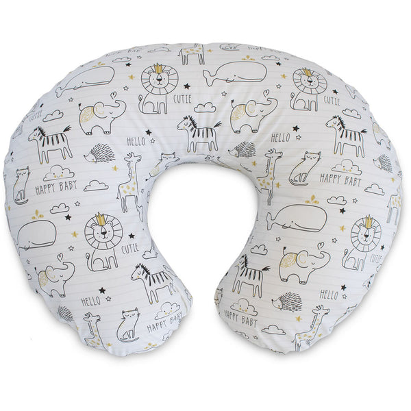 Boppy Nursing Pillow and Positioner, Notebook Black & Gold