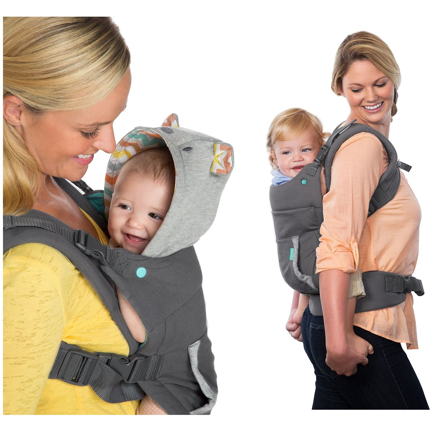 44850e0a19a ... Grey Infantino Cuddle Up Ergonomic Hoodie Carrier