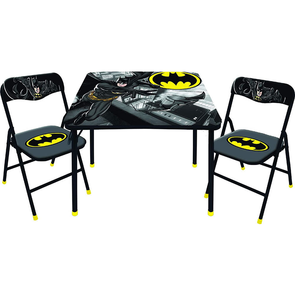 Batman 3-Piece Square Table and Chair Set