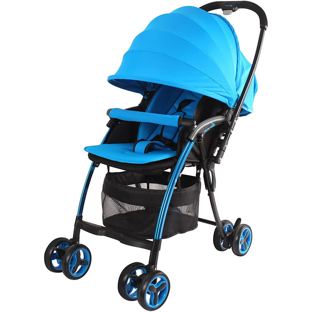 Wonder Buggy Nano Lightweight Stroller with Reversible Handle - Blue