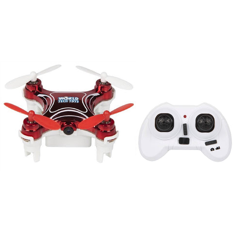 World Tech Toys Nemo 2.4GHz 4.5CH Camera RC Spy Drone - Red