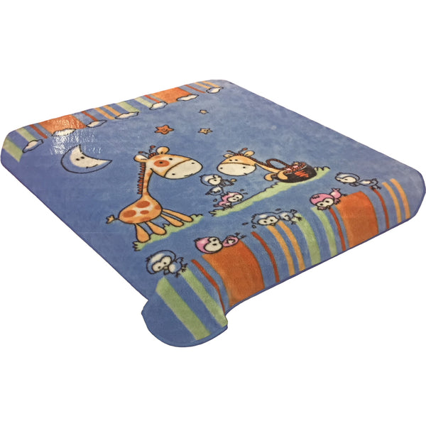 Hiyoko Soft Baby Blanket - Dark Blue