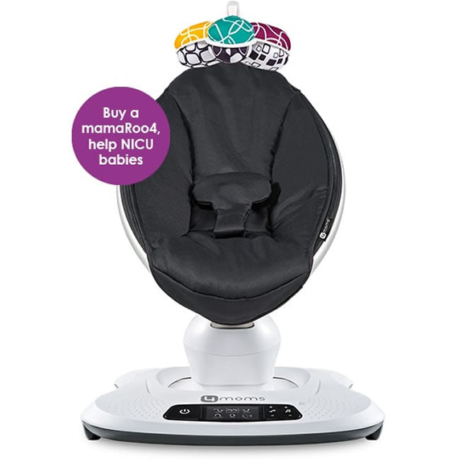4Moms mamaRoo 4 Infant Seat, Black Classic