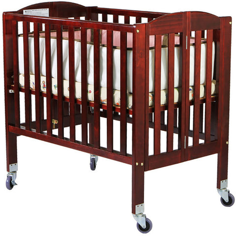 Dream On Me 2 in 1 Folding Portable Crib - Cherry