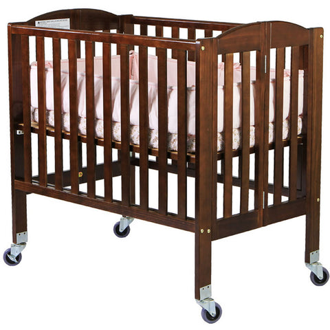 Dream On Me 2 in 1 Folding Portable Crib - Espresso