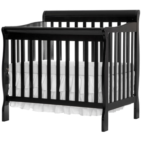 Dream On Me 3 in 1 Aden Convertible Mini Crib, Black - 628K